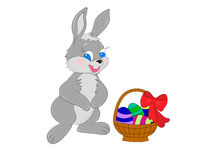 kanin för korgeaster ägg Royaltyfri Foto