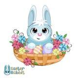 Kanin i en korg Royaltyfri Fotografi