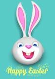 Kanin i lycklig påskbakgrund Royaltyfri Fotografi