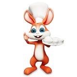 Kanin med maträtten Royaltyfria Foton