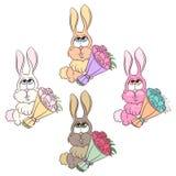Kanin med rosor Royaltyfri Foto