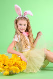 Kanin på gräsplan royaltyfri foto