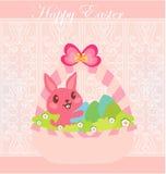 kanin som bär den lyckliga illustrationen för easter ägg Royaltyfri Foto