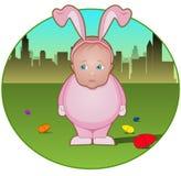 kaninbarnet klädde som litet Royaltyfri Foto