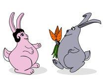 Kaninchen auf einem Datum Lizenzfreie Stockbilder