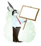 Kaninchen in einem Anzug Stockfoto