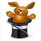 Kaninchen in einem Hut Lizenzfreie Stockfotos