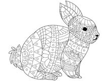 Kaninchen-Farbtonvektor für Erwachsene vektor abbildung