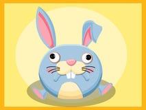 Kaninchen-Karikatur Lustige Karikatur- und vektortierzeichen Stockfotos