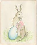 Kaninchen mit Ei Lizenzfreie Stockbilder