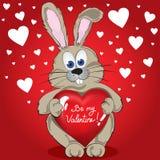 Kaninchen mit Herzen Lizenzfreie Stockfotos