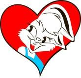 Kaninchen mit Herzen Stockfotografie
