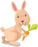 Kaninchen mit Karotte Stockbild