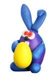Kaninchen mit Osterei Lizenzfreies Stockfoto