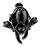 Kaninchen-Tätowierung lizenzfreie abbildung
