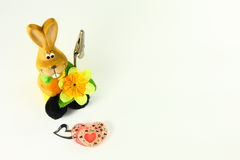 Kaninchen u. Herzen lizenzfreies stockbild