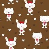 Kaninchen und Bär Stock Abbildung