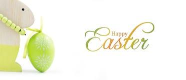 Kaninchen und Ei Stockbild