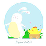 Kaninchen und Huhn Lizenzfreies Stockfoto