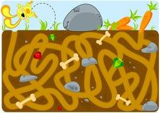 Kaninchen-und Karotte-Tunnel-Labyrinth Lizenzfreie Stockfotografie