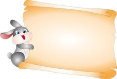 Kaninchen und Leerzeichen   lizenzfreie abbildung
