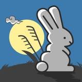 Kaninchen unter dem Mondschein Lizenzfreie Stockbilder