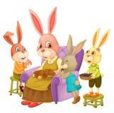 Kaninchenfamilie Lizenzfreie Stockfotografie