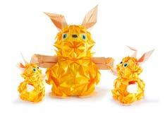 Kaninchenfamilie Lizenzfreie Stockfotos