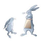Kaninchenfamilie - Mutter und Kind Lizenzfreie Stockfotos