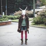 Kaninchenhauptfrau Stockfotos