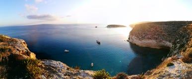 Kanincheninsel auf Lampedusa, Sizilien stockfotografie