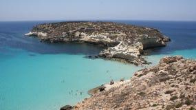 Kanincheninsel in Lampedusa lizenzfreie stockbilder