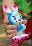 Kaninchenspielzeug Stockfoto