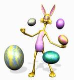 kaninclippingeaster ägg inkluderar banan Arkivbild