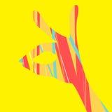 Kaninen räcker färgrikt vektor illustrationer