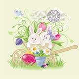 kaniner easter Royaltyfri Foto