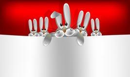 Kaniner för påsk för designgrupp tre Arkivfoto