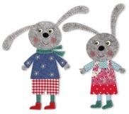 Kaniner tecknad filmtecken Arkivfoto