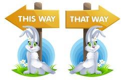 Kaninflicka och vägvisare Fotografering för Bildbyråer