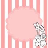 Kaninkort royaltyfri illustrationer