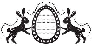 kaninkort easter royaltyfri illustrationer