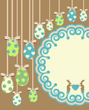 kaninkorteaster ägg stock illustrationer