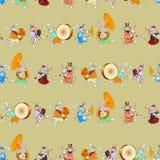 Kaninmusikband seamless02 Arkivfoto
