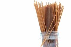 kanisteru suszone wholemeal spaghetti Zdjęcie Royalty Free