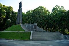 Kaniv stad, Ukraina Dnipro flod Taras Shevchenko parkerar Arkivbilder