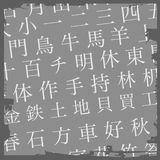 kanji предпосылки Стоковая Фотография