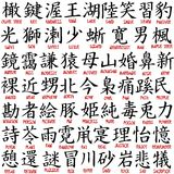 Kanji collection stock illustration