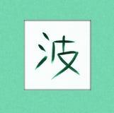 Kanji dell'onda Fotografia Stock Libera da Diritti