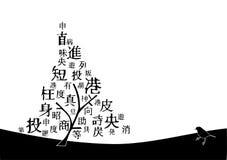 Kanji tree Royalty Free Stock Image