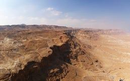 kanjonökenisrael judea Arkivfoto